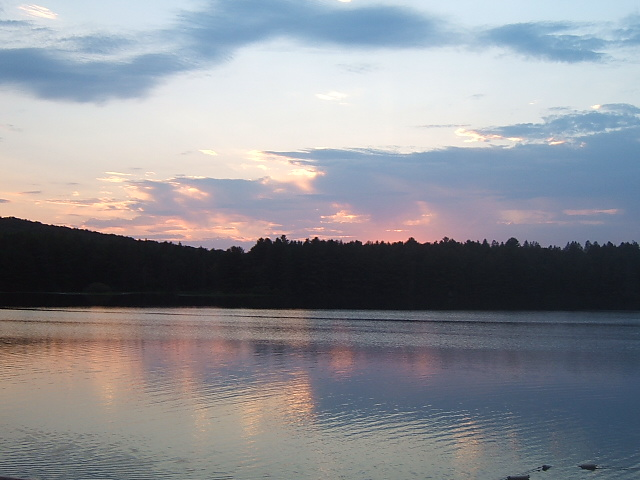 Sunset at Pog Lake beach