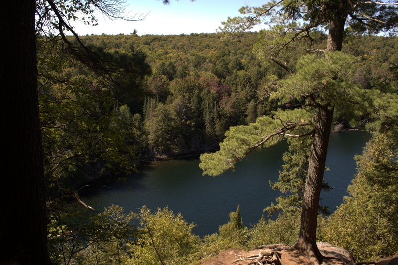 Look out over Jack Lake on the Hemlock Trail