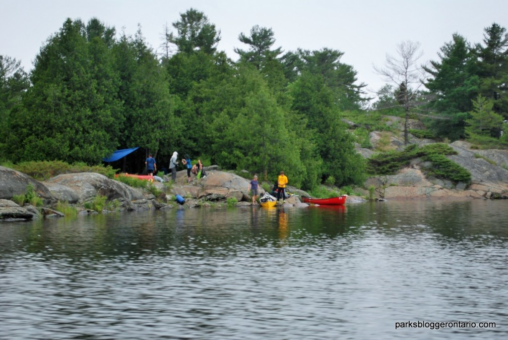 paddlers at French River provincial park