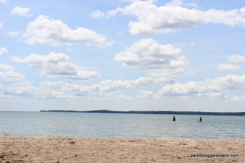 Swimming at Mara beach - Mara provincial park - Ontario
