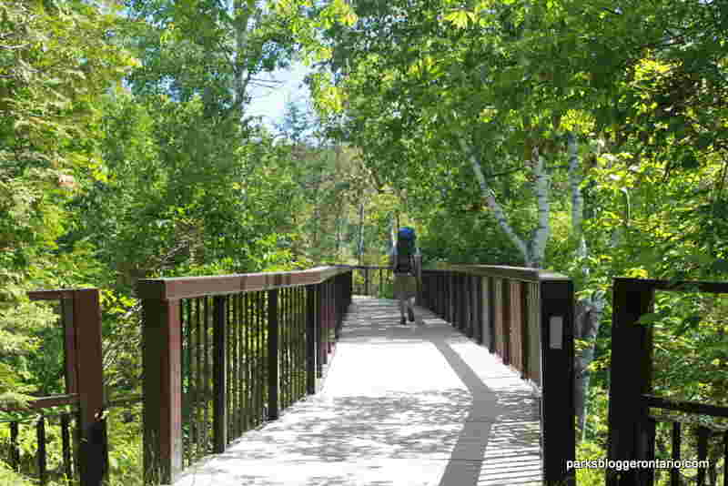 wooden bridge dominion trail forks of the credit provincial park