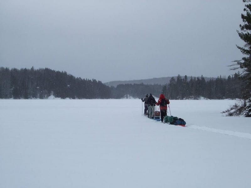 Algonquin-Pinetree-Lake-Winter-Crossing