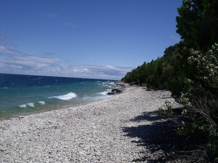 Beach at High Dump - bruce peninsula national park