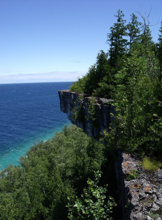 Overhanging Cliff - georgian bay