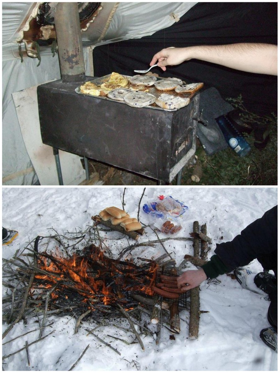 food and cooking - winter camping