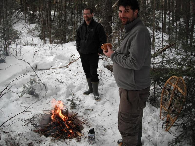 winter camping - campfire