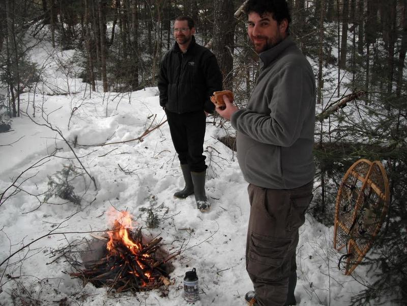 winter camping - campfire