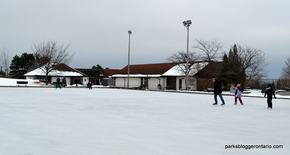 Skating rink at Bronte Creek Provincial Park