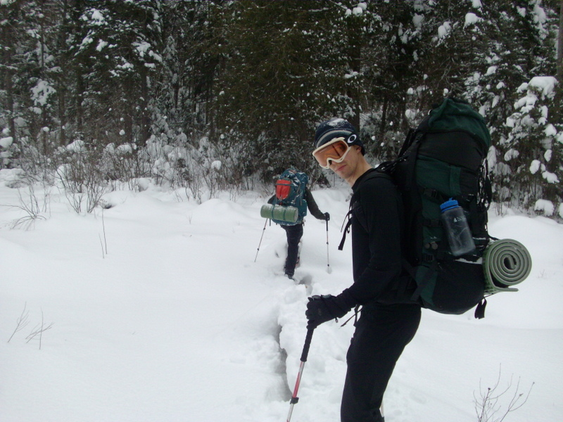 slushy snowshoeing - algonquin